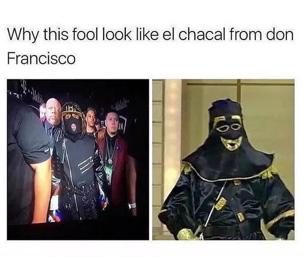 El chacal looking ass #Mayweather