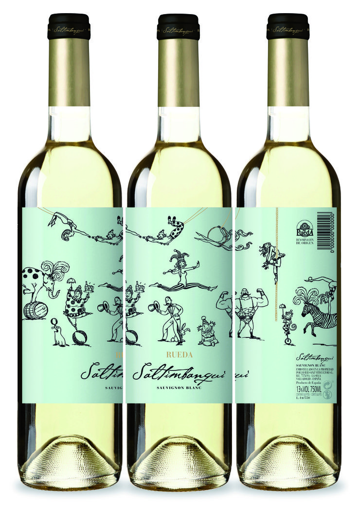 Saltimbanqui Rueda. Sauvignon Blanc. Vino/ Vi/ Wine