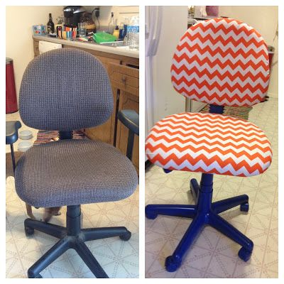 redoing an office chair, perfect for a sewing or craft room!