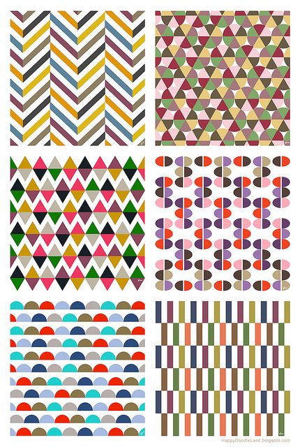 Patterns by Flora of Happy Doodle Land #HappyDoodleLand #pattern #geometry