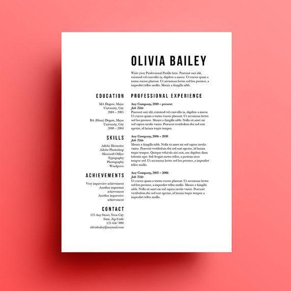 Resume Template Cover Letter instant download by SkylarkingDesigns, £10.00