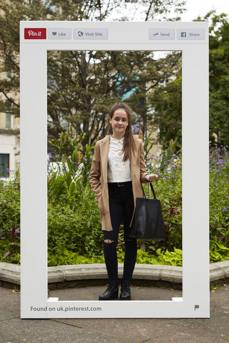 'Real-life Pin' Yasmine, a student in London, wearing a Primark coat, Miss Selfridge jeans, New Look shoes and Urban Outfitters bag. Spotted during LFW 2016.