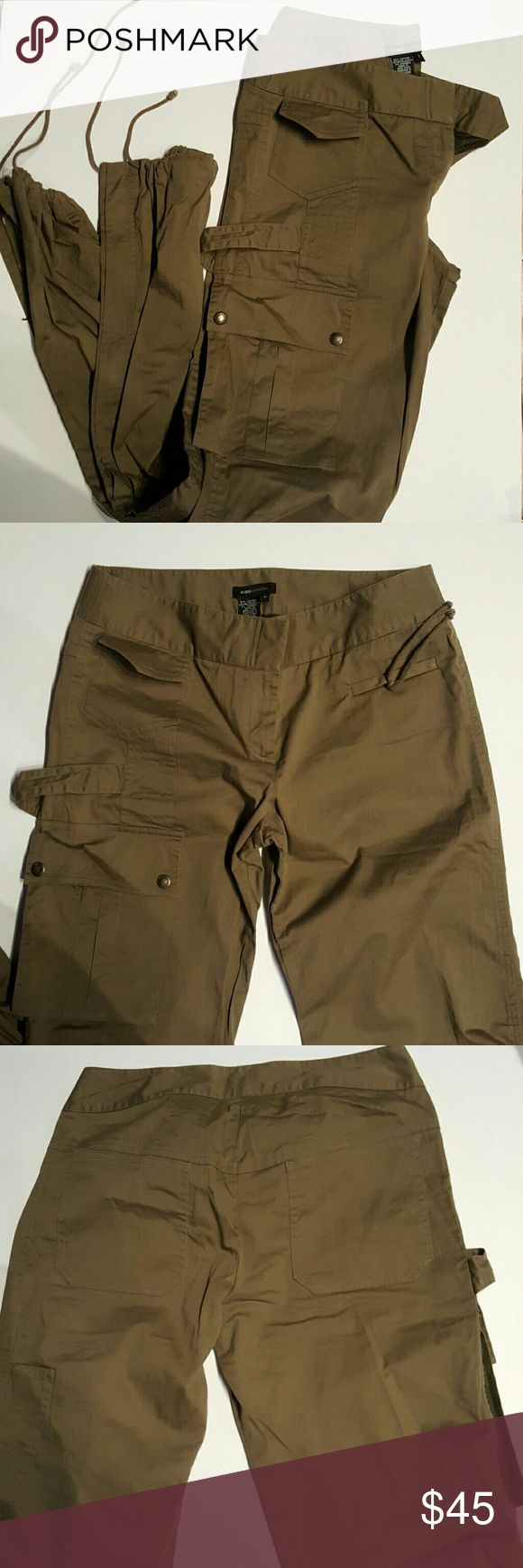 BCBG MAX AZRIA olive army cargo pants size 8 *Reduced price*BCBG MAX AZRIA olive color, army cargo pants size 8, retailed@$80+  like new condition. All my items from smoke free pet free home. Listed on Mercari* BCBG Pants