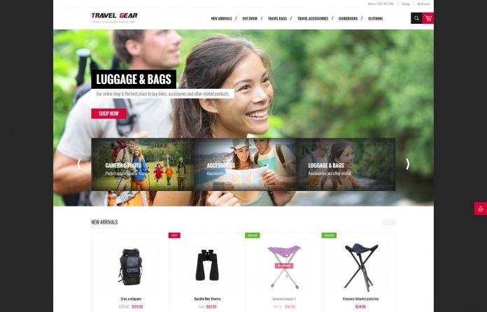 JM TravelGear - Responsive & versatile #Magento #theme for your #eCommerce Magento sites, especially if you own an outdoor #clothing & gear store.