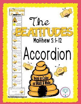 Bible Fun For Kids: The Beatitudes: Bee-Attitudes Bulletin Board & More!