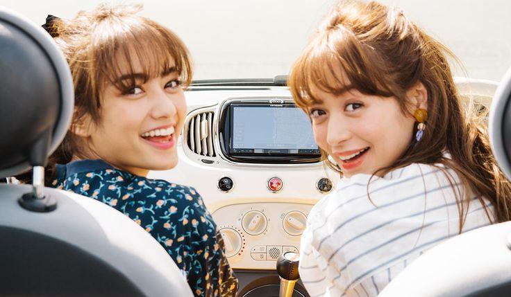 野崎萌香&谷まりあのドライブ女子旅 おやつは駅前の珈琲店で | WWD JAPAN.COM