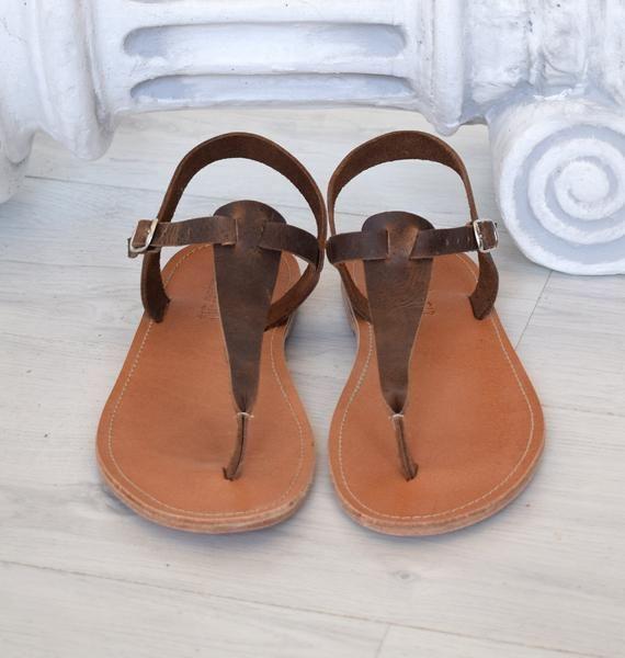 Sandales en cuir Sandali in pelle griechische Sandalen Ledersandalen Leather Sandals