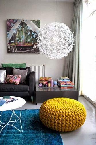 Puffs de tricô na decoração - Decoratta Móveis Planejados e Decoração                                                                                                                                                                                 Mais
