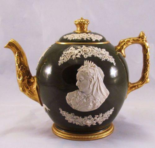Rare Antique Copeland Spode Queen Victoria Diamond Jubilee Teapot C 1897 in Pottery & Glass, Pottery & China, China & Dinnerware, Copeland   eBay