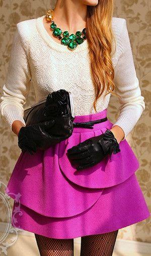 Petal Layer skirt  - pink