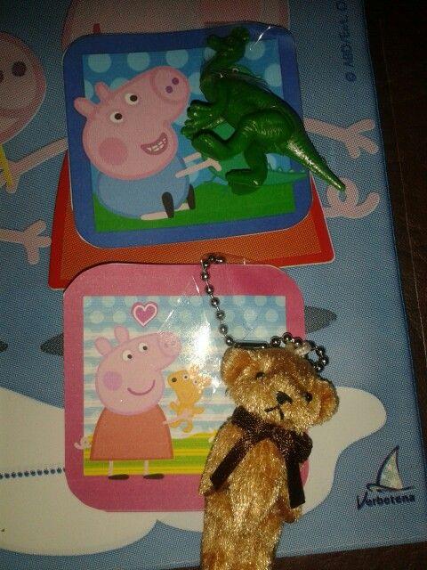 "Souvenirs Cumpleaños Peppa Pig ""Teddy - Dinosaurio"""
