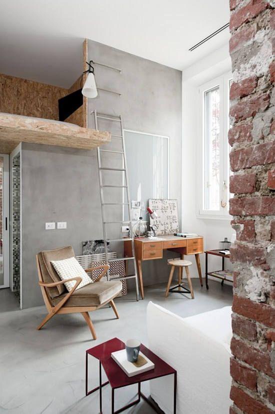 regardsetmaisons: De la brique dans un 30 m2