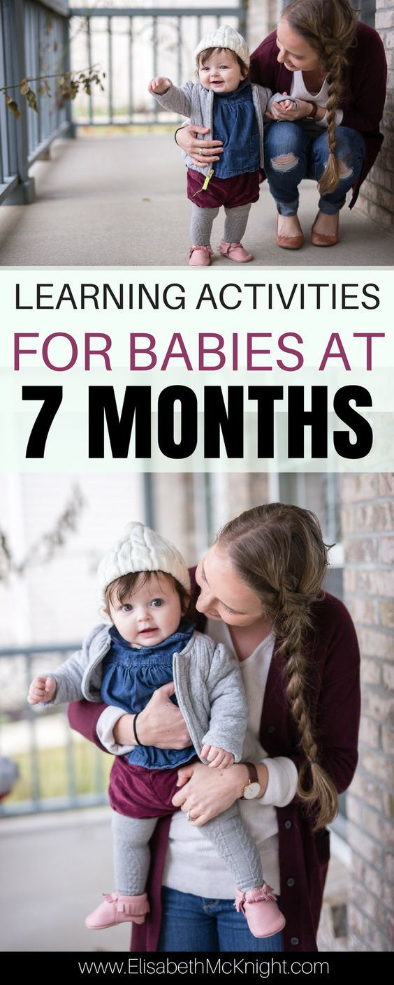 love these ideas of things to do with your 7 month old (or any baby 6 - 12 months). The activities promote learning most of them use things around the house!