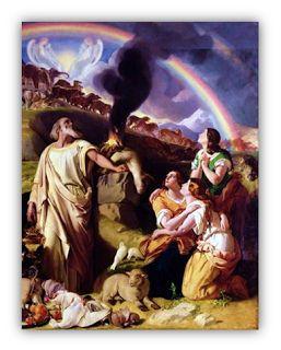 """Pintura de Daniel Maclise. Noé y su familia después del diluvio. Parte del blog de """"Oración de Protección Familiar""""."""