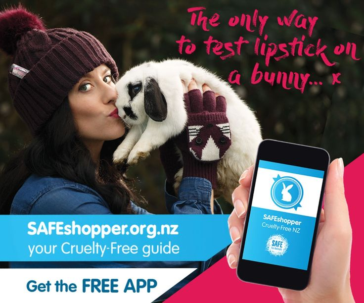 The only way to testlipstickon a bunny! | SAFE: New Zealand Animal Rights