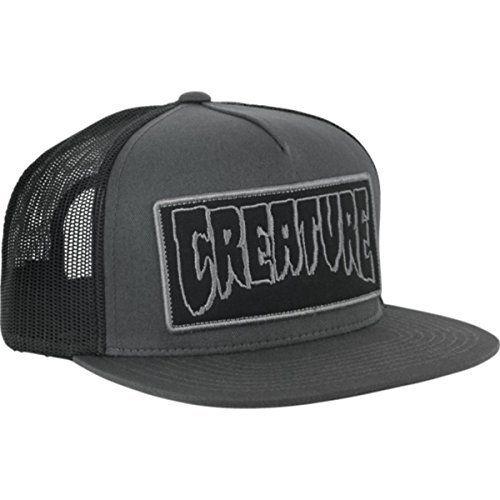 Creature Skateboards Reverse Patch Dark Grey / Black Mesh Trucker Hat – Adjustable: Creature Skateboards Opposite Patch adjustable trucker…