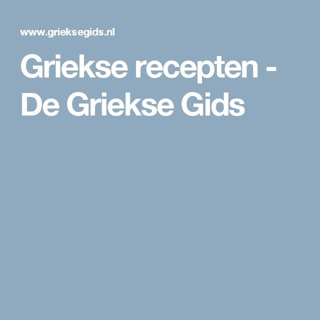 Griekse recepten - De Griekse Gids