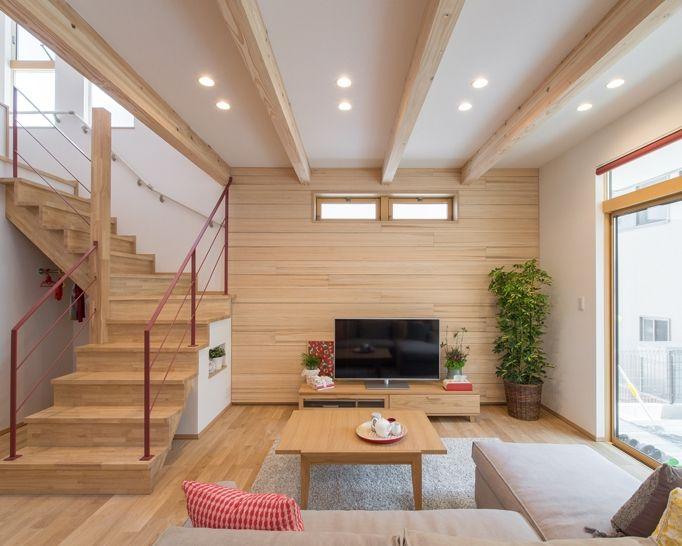 木の素材感を活かしたインテリア|注文住宅のアキュラホーム
