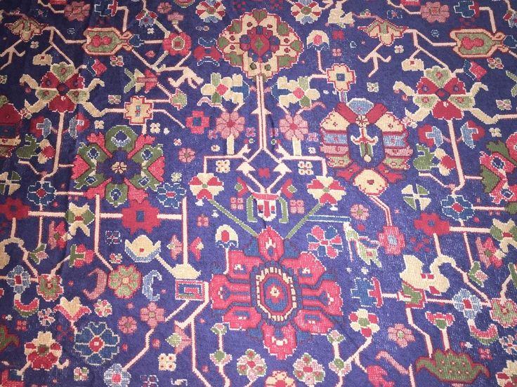 RALPH LAUREN ORIENTA 108x102 King Size Flat Sheet Turkish Blue Red Green Floral #RalphLauren #Asian