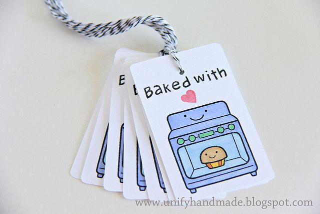Baked With Love tags to go with your holiday treats {lawn fawn stamp}