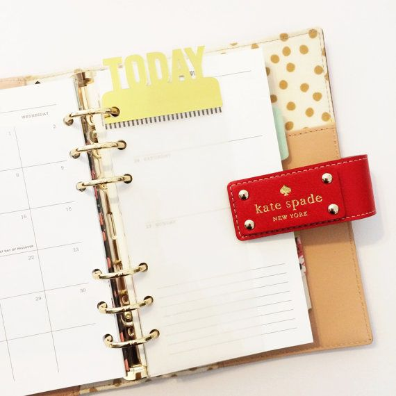 Planner Page Marker : Today with Gold Topper by mypaperlovestudio