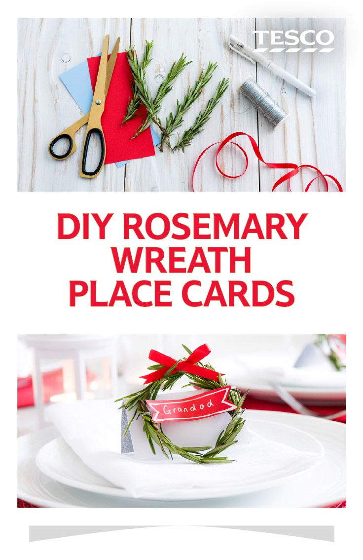 These easy DIY place cards are perfect for adding a special touch to your Christmas dinner table   Tesco