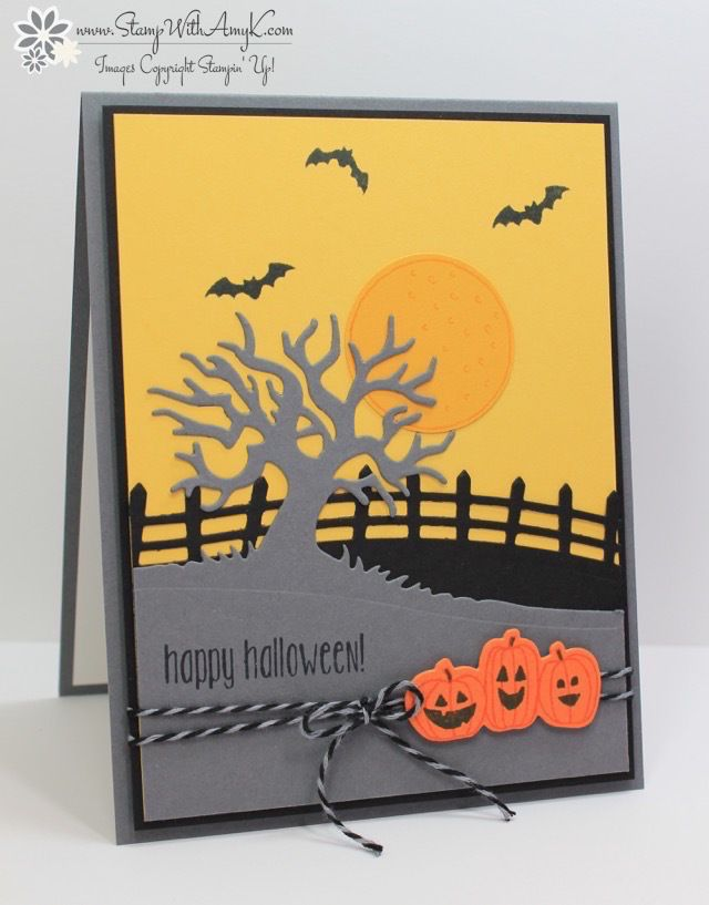 Halloween Card Making Ideas Part - 30: Stampinu0027 Up! Spooky Fun And Sweet Home Sneak Peeks For The Control Freaks  Blog Hop. Handmade Halloween CardsHalloween ...