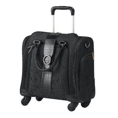 Fashion Forward Jacquard 4 Wheeled Tote Travel Light