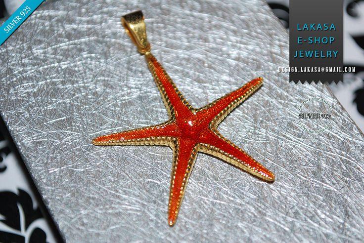 Sea Star Sterling Silver Goldplated Pendant Red Enamel Jewelry Love Woman Unisex Men Marine Hope Freedom Sea Summer Greece Seestern Starfish #seastar #sea #star #seastern #starfish #necklace #jewelry #silver #jewellery #gift #woman #moda #joyas #mujer #pendant #collection #gifts #holidays #best #idea #men #dream #memories #παιδι #μενταγιον #ασημι #γυναικα #δωρο #μητερα #αντρας #αστεριας #θαλλασα #καλοκαιρι #nature #inspiration #free #shipping #lakasaeshop