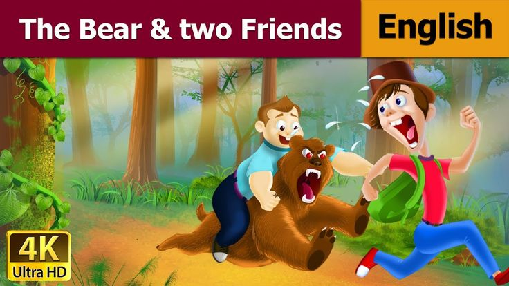 The Bear and Two Friends - Moral Stories - 4K UHD - English Fairy Tales HD