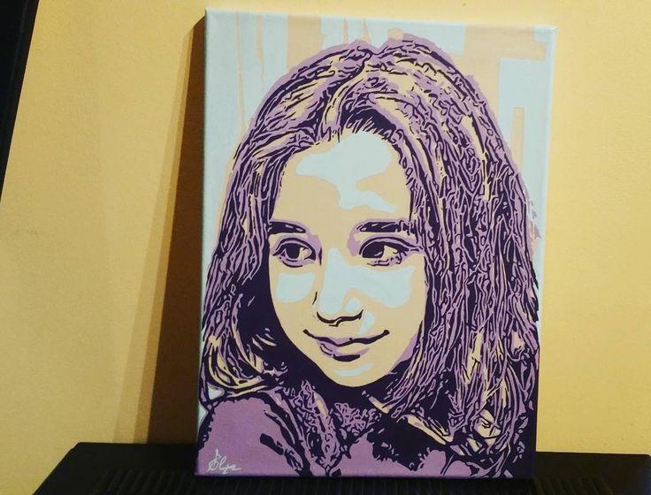🎨 'Beautiful Sophia' 🎨 💜💜💜💜💜💜💜💜💜 #commissioned #popart #portrait #childportraits #popculture #cultureleak #collector #urbanart #contemporaryart #contemporaryportrait #artlife #art_spotlight #artfido #artwork #artsy #gallery #arts_help #blvart #artlovers #artshare #artstagram #ladyterezie #artistiq_feature #artcontemporary #instaart #artmarketer #modernart #originalpainting #artcollective
