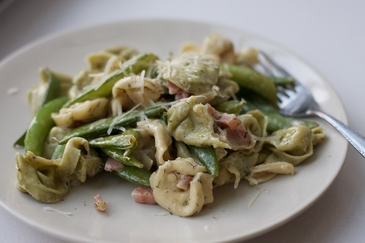 mrs harding cooks: Tortellini with Snap Peas, Lemon and Dill
