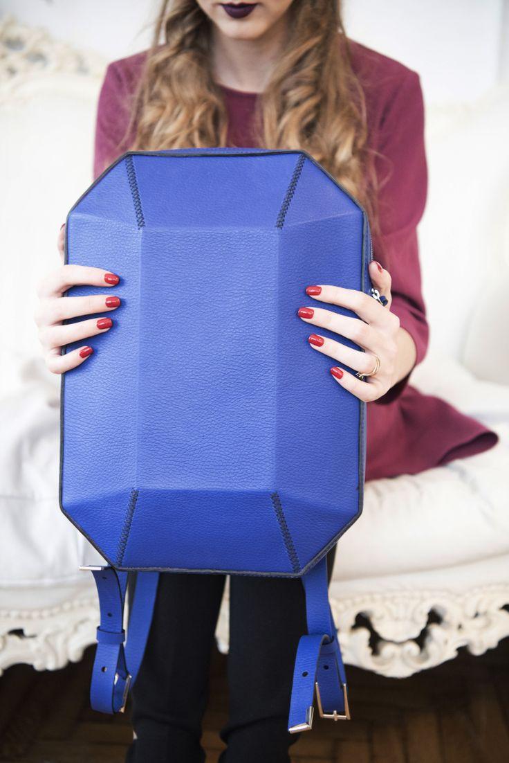 Beautiful, leather, handmade backpack