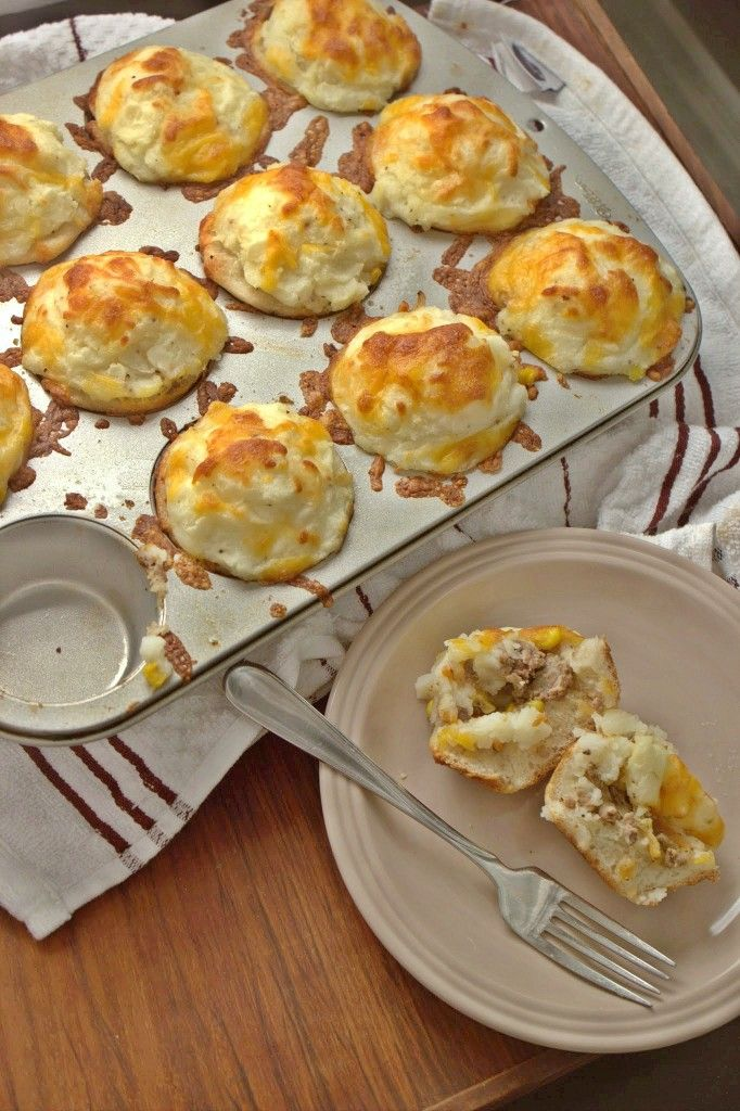 Mini Shepherds Pies - a perfect dish for your St. Patty's day parties this weekend - no forks needed!