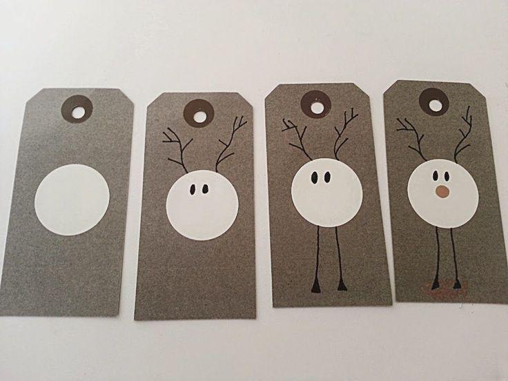 Julerierne er i fuld gang hos mig,   ideerne står i kø for at komme ud.     Jeg synes disse til og fra kort er så super søde og   børn...