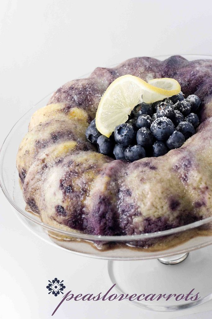 Blueberry Lemon Bundt Cake.  Used yellow cake mix and Greek yogurt.