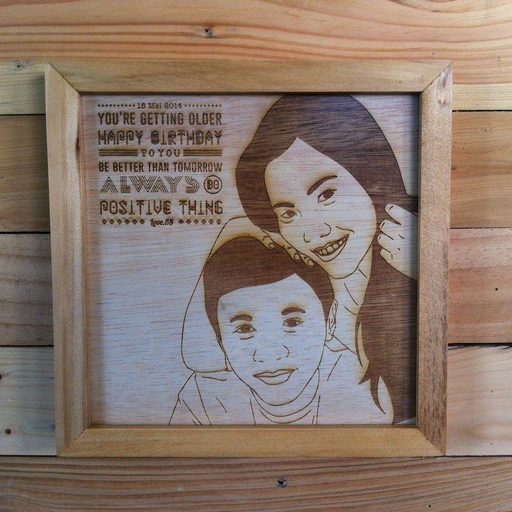 Laser Engraved Wall Decoration | 20cm x 20cm | Made by Maken Living | www.makenliving.com
