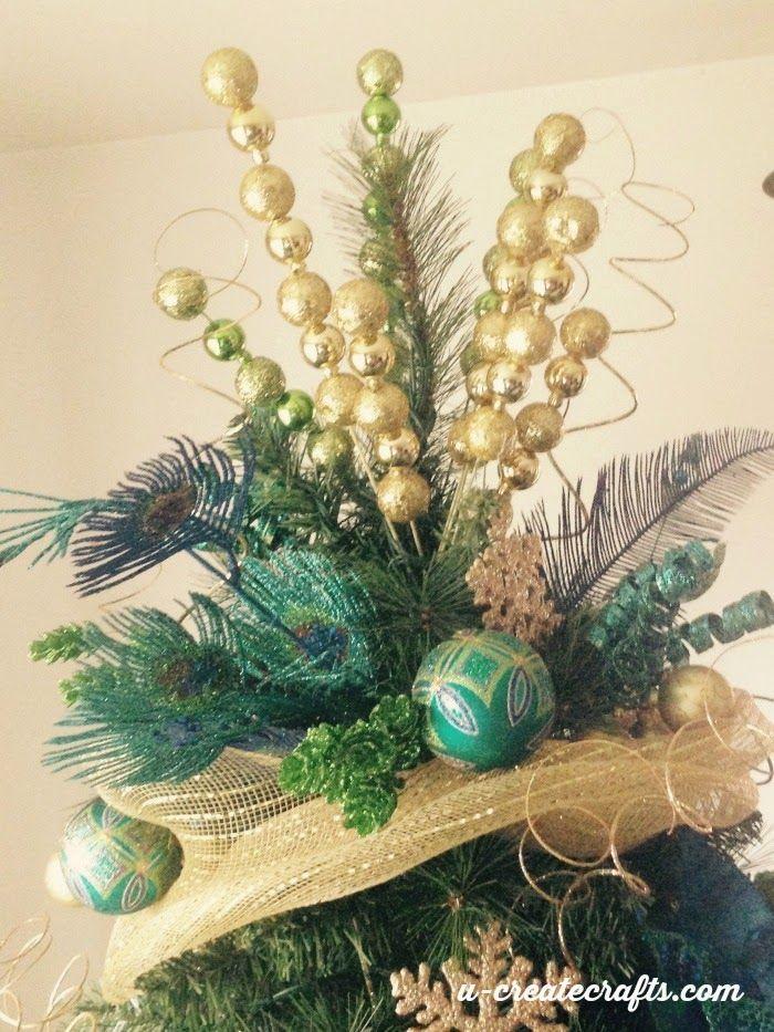 Weu0027re creating a peacock Christmas tree as