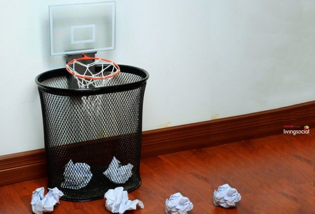 Basketball Hoop Cheering Trashcan Pinned From Ensogo
