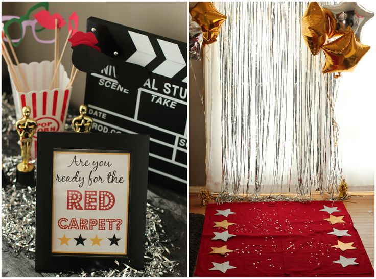 Great Oscar party ideas and games from playpartypin.com #party #Oscars #games