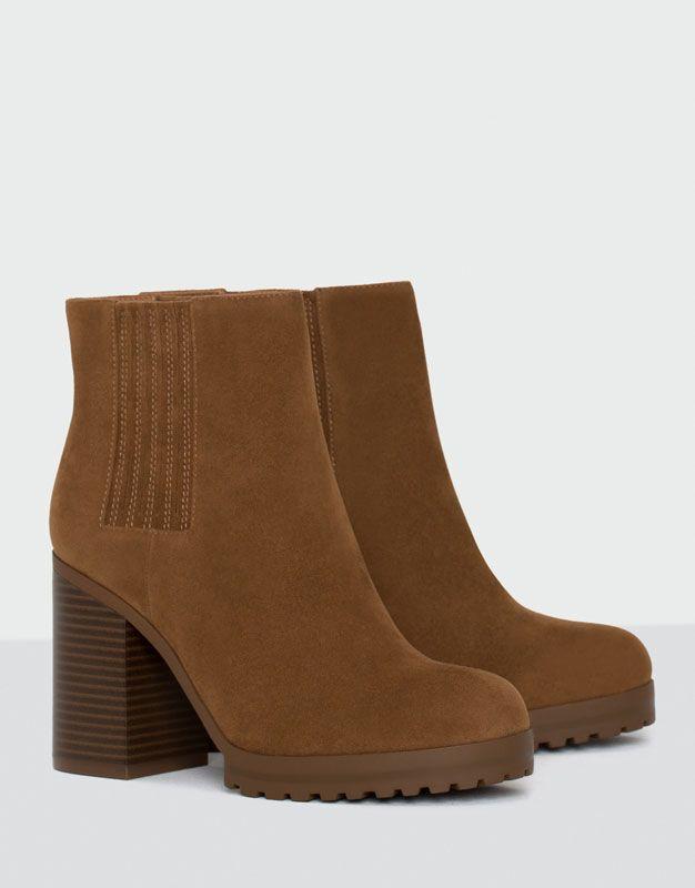 Bottine à talon élastique - Chaussures - Nouveautés - Femme - PULL&BEAR France