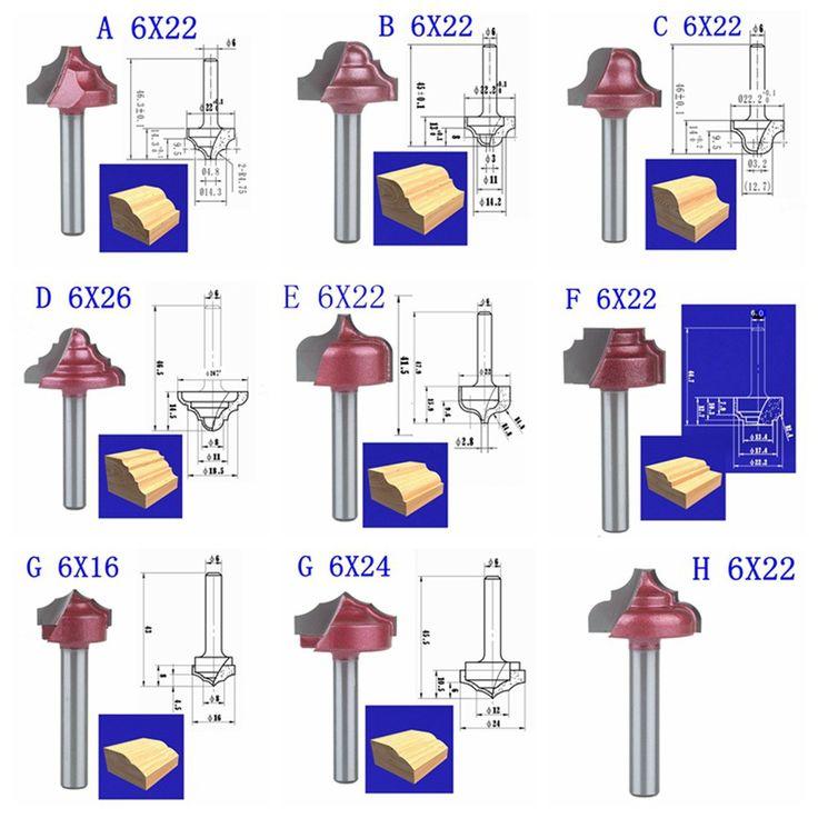 6 미리메터 샤프트 직경, 9 모델 cnc 기계 밀링 커터, 초경 엔드 밀, 캐비닛 문 프레임 칼, 목공 도구, mdf-에서포장: 9 모델 CNC 기계 밀링 커터부터 밀링 커터 의 Aliexpress.com | Alibaba 그룹