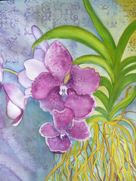 pretty in purpleArtwanted Com, Luann Juster, Lianne Juster, Juster Watercolors, 10X14 Watercolors, Art 4, Botanical Art, Watercolors Quest