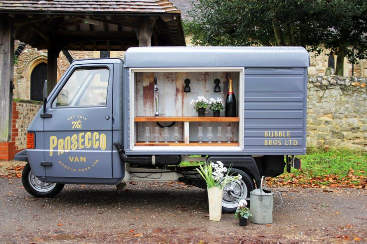 Bubble Bros Ltd ( The Prosecco Van) | The Love Lust List | South East Decor & Hire | http://www.rockmywedding.co.uk/rmw-rates-bubble-bros-prosecco-van/