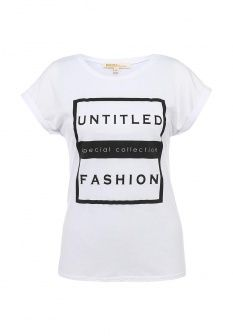Футболка Modis, цвет: белый. Артикул: MO044EWGTP00. Женская одежда / Футболки и поло / Футболки с коротким рукавом