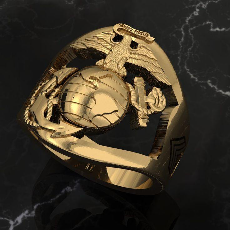 USMC 14k Gold Marine Corps Ring