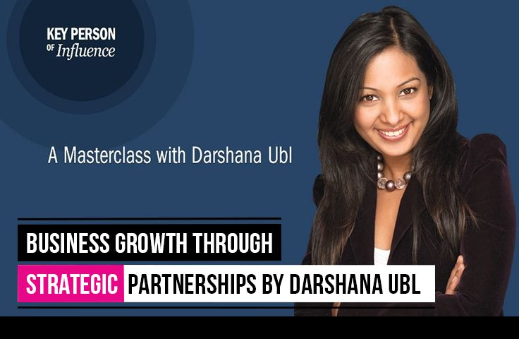 [Event] Jan 26 2015  Key Person of Influence Singapore in partnership with DBS BusinessClass is kicking off 2015 with an exclusive workshop, 'Business Growth through Strategic Partnerships' by Darshana Ubl on the 26th of January.  #event #KPI #business #growth #women #executive #lifestyle #execlifeSG @Executive Lifestyle