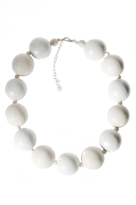 Gorgeous wooden pearls