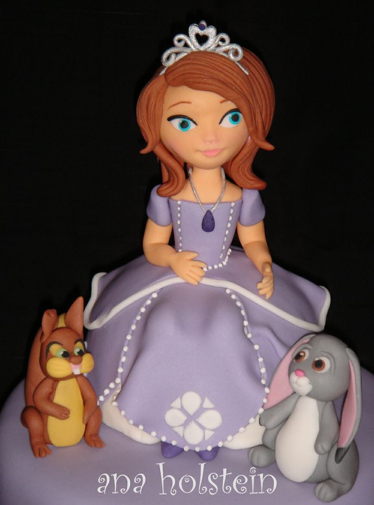 Princess Sofia Disney Cake Topper My Work Pinterest