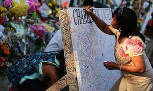 Messages of hope and encouragement in Charleston